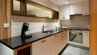 Kitchen area in self-catering apartment