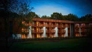 Breckland Apartments exterior at Elveden Forest
