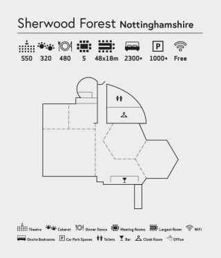 Room layout of The Venue at Sherwood Forest