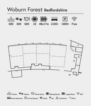 Room layout of The Venue at Woburn Forest
