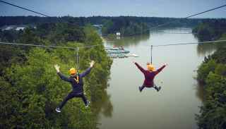 Zip wire over the lake